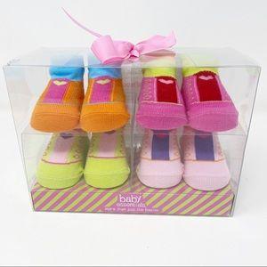 BABY ESSENTIALS 4 Pairs Baby Socks 0-6 Months